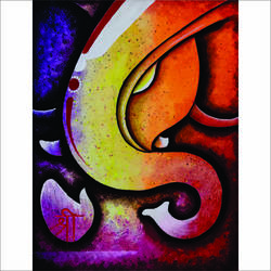 abstract ganesha (2), 16 x 20 inch, ganesh mestry,16x20inch,canvas,paintings,abstract paintings,paintings for dining room,paintings for living room,paintings for bedroom,paintings for office,paintings for kids room,paintings for hotel,paintings for kitchen,paintings for school,paintings for hospital,acrylic color,fabric,paper,GAL01106337624