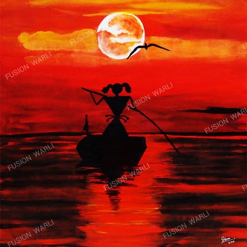 unstoppable, 24 x 32 inch, hema  thakur,24x32inch,canvas,paintings,conceptual paintings,contemporary paintings,warli paintings,paintings for living room,paintings for bedroom,paintings for office,paintings for kids room,paintings for hotel,paintings for school,paintings for hospital,acrylic color,GAL02616737656
