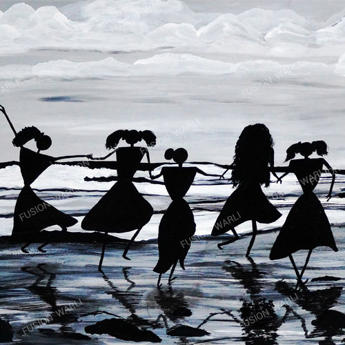 being yourself, 35 x 25 inch, hema  thakur,35x25inch,canvas board,paintings,figurative paintings,folk art paintings,conceptual paintings,minimalist paintings,contemporary paintings,warli paintings,paintings for dining room,paintings for living room,paintings for bedroom,paintings for office,paintings for kids room,paintings for hotel,paintings for kitchen,paintings for school,paintings for hospital,acrylic color,mixed media,oil color,GAL02616737661