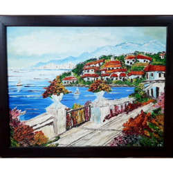 floral street, 15 x 19 inch, madhavi dwivedi,15x19inch,canvas,flower paintings,landscape paintings,nature paintings | scenery paintings,oil color,GAL02616537662