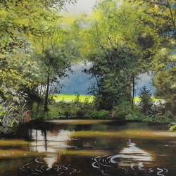 july tenderness, 29 x 22 inch, md moin ,29x22inch,canvas,paintings,nature paintings | scenery paintings,paintings for living room,acrylic color,GAL01096037672