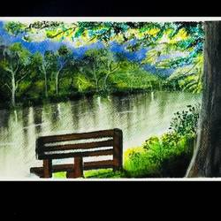 where we used to sit, 11 x 8 inch, aishwarya kulkarni,11x8inch,brustro watercolor paper,paintings,landscape paintings,realistic paintings,paintings for dining room,paintings for living room,paintings for bedroom,paintings for office,paintings for bathroom,paintings for kids room,paintings for hotel,paintings for kitchen,paintings for school,paintings for hospital,pastel color,GAL02413337680