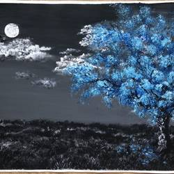 moonlight , 18 x 14 inch, nazrana  khan ,18x14inch,canvas,paintings,landscape paintings,paintings for bedroom,acrylic color,GAL02619337694
