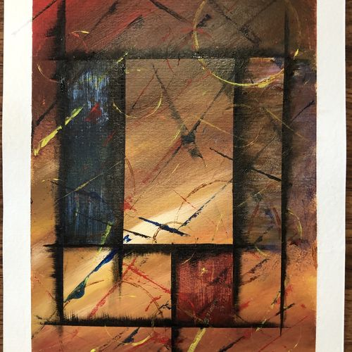 window of light, 8 x 11 inch, nazrana  khan ,8x11inch,thick paper,paintings,abstract paintings,modern art paintings,paintings for office,paintings for hotel,paintings for hospital,acrylic color,paper,GAL02619337697