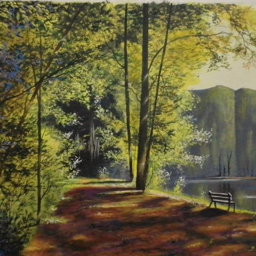 green walking, 29 x 22 inch, md moin ,29x22inch,canvas,paintings,landscape paintings,paintings for living room,acrylic color,GAL01096037699