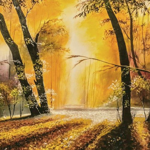 evening glamour, 31 x 20 inch, md moin ,31x20inch,canvas,paintings,landscape paintings,paintings for living room,paintings for office,paintings for hotel,acrylic color,GAL01096037701