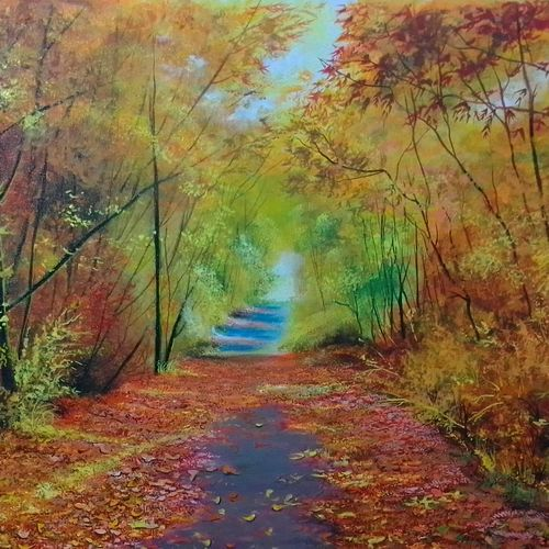 autumn shades, 30 x 23 inch, md moin ,30x23inch,canvas,landscape paintings,paintings for living room,paintings for office,paintings for hotel,paintings for living room,paintings for office,paintings for hotel,acrylic color,GAL01096037705
