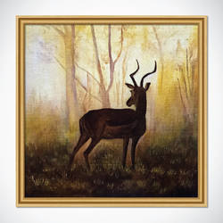 deer hand painted acrylic painting, 12 x 12 inch, yogita kolge,12x12inch,canvas board,paintings,wildlife paintings,nature paintings | scenery paintings,art deco paintings,paintings for living room,paintings for living room,acrylic color,GAL02323837719