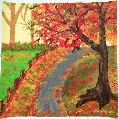 colourful landscape painting , 12 x 12 inch, vidhya narayanasamy,12x12inch,canvas,paintings,landscape paintings,nature paintings | scenery paintings,photorealism paintings,paintings for dining room,paintings for living room,paintings for bedroom,paintings for office,paintings for kids room,paintings for hotel,paintings for school,paintings for hospital,acrylic color,GAL02450737723