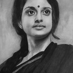 pencil drawing of beautiful women, 11 x 12 inch, abdul majeed,11x12inch,thick paper,photorealism drawings,realism drawings,charcoal,graphite pencil,GAL02606637731