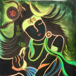 shiva, 8 x 12 inch, sukirti  gupta,8x12inch,cartridge paper,paintings,lord shiva paintings,paintings for dining room,paintings for living room,paintings for office,paintings for hotel,paintings for school,pastel color,pencil color,poster color,paper,GAL02612737732