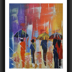 rainy day , 12 x 14 inch, gayathri vignesh,12x14inch,canvas,paintings,abstract paintings,figurative paintings,paintings for dining room,paintings for living room,paintings for bedroom,paintings for office,paintings for bathroom,paintings for kids room,paintings for hotel,paintings for kitchen,paintings for school,paintings for hospital,acrylic color,GAL02612137745