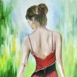 oil painting girl power, 21 x 29 inch, shefali  srivastva,21x29inch,canvas,paintings,figurative paintings,oil color,GAL02422037778