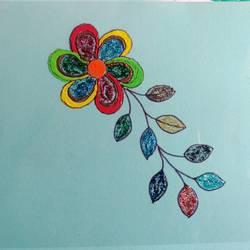 flower with leaves, 8 x 12 inch, shilpa kashyap,8x12inch,ohp plastic sheets,paintings,flower paintings,paintings for dining room,paintings for living room,paintings for bedroom,paintings for office,paintings for hotel,paintings for kitchen,paintings for school,paintings for hospital,paintings for dining room,paintings for living room,paintings for bedroom,paintings for office,paintings for hotel,paintings for kitchen,paintings for school,paintings for hospital,glass,GAL02483637789