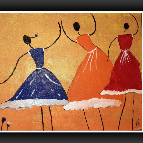 dancing dolla, 12 x 14 inch, gayathri vignesh,12x14inch,canvas,paintings,abstract paintings,modern art paintings,paintings for dining room,paintings for living room,paintings for bedroom,paintings for office,paintings for bathroom,paintings for kids room,paintings for hotel,paintings for kitchen,paintings for school,paintings for hospital,acrylic color,GAL02612137791