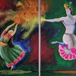 radha krishan dancing multi piece painting , 24 x 16 inch, vimal dhale,24x16inch,canvas board,multi piece paintings,religious paintings,radha krishna paintings,love paintings,paintings for dining room,paintings for living room,paintings for bedroom,paintings for office,paintings for hotel,paintings for dining room,paintings for living room,paintings for bedroom,paintings for office,paintings for hotel,acrylic color,GAL02624837795