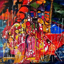 the masks, 24 x 18 inch, musolini rajagopal,24x18inch,canvas,paintings,abstract paintings,acrylic color,GAL01311937799