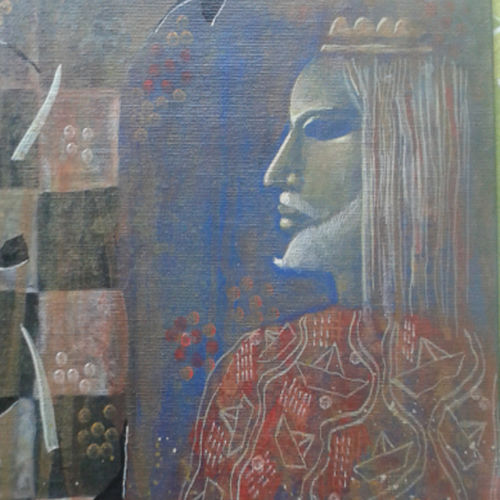 king series-i, 16 x 18 inch, arindam chakraborty,figurative paintings,paintings for dining room,canvas,acrylic color,16x18inch,GAL0165378