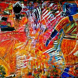 folk and classical dance, 36 x 24 inch, musolini rajagopal,36x24inch,canvas,paintings,abstract paintings,acrylic color,GAL01311937808