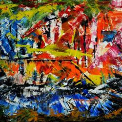 abstract, 24 x 18 inch, musolini rajagopal,24x18inch,canvas,paintings,abstract paintings,acrylic color,GAL01311937810