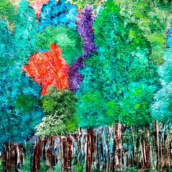 in the woods, 36 x 24 inch, musolini rajagopal,36x24inch,canvas,paintings,abstract paintings,acrylic color,GAL01311937811