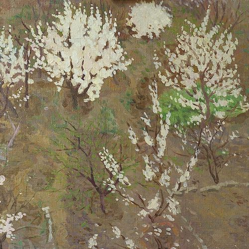 flowering apricot, 28 x 20 inch, moesey li,flower paintings,paintings for living room,canvas,oil paint,28x20inch,GAL07183782