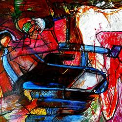 the dentist, 22 x 15 inch, musolini rajagopal,22x15inch,thick paper,abstract drawings,acrylic color,GAL01311937820
