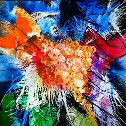 abstract flowers, 15 x 22 inch, musolini rajagopal,15x22inch,thick paper,paintings,abstract paintings,acrylic color,GAL01311937822