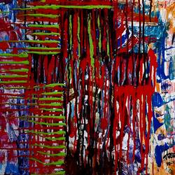 the holy cross, 22 x 18 inch, musolini rajagopal,22x18inch,canvas,paintings,abstract paintings,acrylic color,GAL01311937828