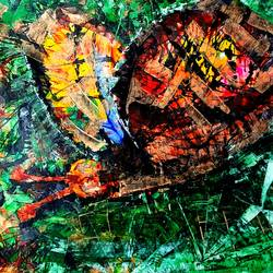 butterfly, 14 x 11 inch, musolini rajagopal,14x11inch,thick paper,paintings,abstract paintings,acrylic color,GAL01311937836