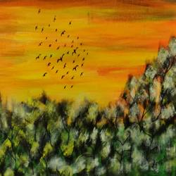 in the hope of a new day , 24 x 18 inch, arvind kumar gupta,24x18inch,canvas,paintings,landscape paintings,acrylic color,GAL02596637840