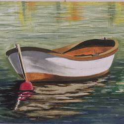 boat in the river , 16 x 12 inch, vimal dhale,16x12inch,canvas board,paintings,landscape paintings,nature paintings | scenery paintings,illustration paintings,realistic paintings,paintings for dining room,paintings for living room,paintings for bedroom,paintings for office,acrylic color,GAL02624837859