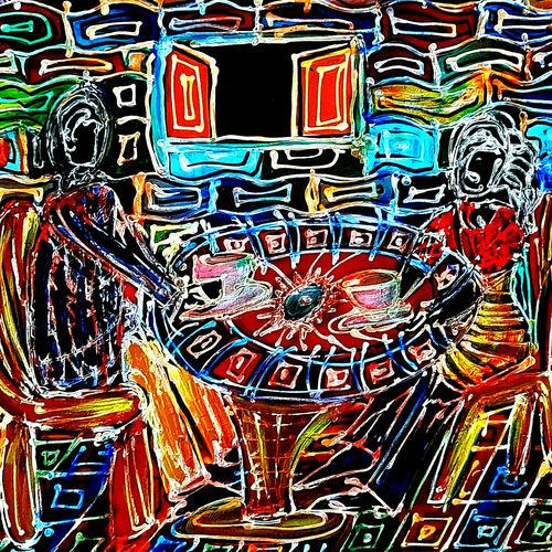 tea break, 24 x 18 inch, musolini rajagopal,24x18inch,canvas,paintings,abstract paintings,acrylic color,GAL01311937885