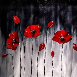 poppies, 16 x 12 inch, tamorika mohapatra,16x12inch,hardboard,paintings,abstract paintings,flower paintings,modern art paintings,paintings for living room,paintings for office,paintings for hotel,acrylic color,GAL02596737889