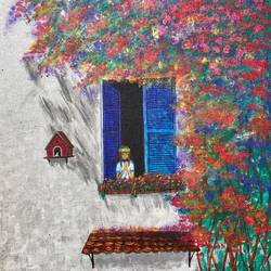 praying little girl near window, 10 x 12 inch, bhuvana j,10x12inch,canvas board,paintings,cityscape paintings,contemporary paintings,children paintings,kids paintings,paintings for dining room,paintings for living room,paintings for bedroom,paintings for office,paintings for bathroom,paintings for kids room,paintings for hotel,paintings for kitchen,paintings for school,paintings for hospital,acrylic color,GAL02616437939