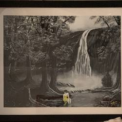misty waterfall, 20 x 16 inch, sushama arts,20x16inch,canvas board,paintings,landscape paintings,nature paintings | scenery paintings,realistic paintings,paintings for dining room,paintings for living room,paintings for bedroom,paintings for office,paintings for bathroom,paintings for hotel,paintings for kitchen,paintings for hospital,acrylic color,GAL02622137944