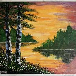 lake, 10 x 8 inch, sushama arts,10x8inch,canvas board,paintings,landscape paintings,nature paintings | scenery paintings,paintings for dining room,paintings for living room,paintings for bedroom,paintings for office,paintings for bathroom,paintings for kids room,paintings for hotel,paintings for kitchen,paintings for school,paintings for hospital,acrylic color,GAL02622137948