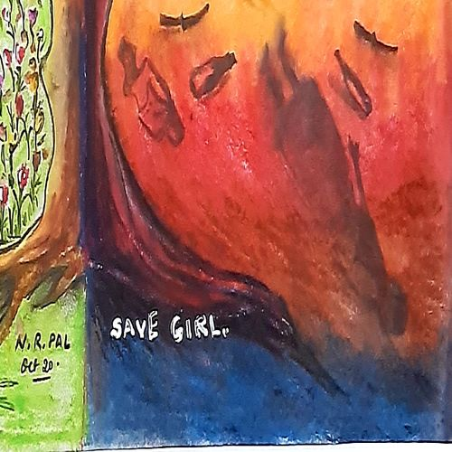 save girls, 14 x 11 inch, nayan pal,14x11inch,drawing paper,impressionist paintings,realism paintings,paintings for office,paintings for hotel,paintings for school,paintings for hospital,paintings for office,paintings for hotel,paintings for school,paintings for hospital,pastel color,GAL02339937958