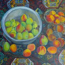 oriental still life, 28 x 35 inch, moesey li,still life paintings,paintings for living room,canvas,oil paint,28x35inch,GAL07183796