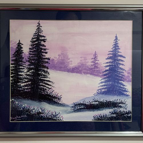 purple show, 12 x 10 inch, sushama arts,12x10inch,canvas board,paintings,landscape paintings,nature paintings | scenery paintings,paintings for dining room,paintings for living room,paintings for bedroom,paintings for office,paintings for bathroom,paintings for kids room,paintings for hotel,paintings for kitchen,paintings for school,paintings for hospital,acrylic color,GAL02622137961