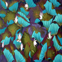 lotus , 72 x 36 inch, sekhar  roy,72x36inch,canvas,flower paintings,acrylic color,GAL02630937985