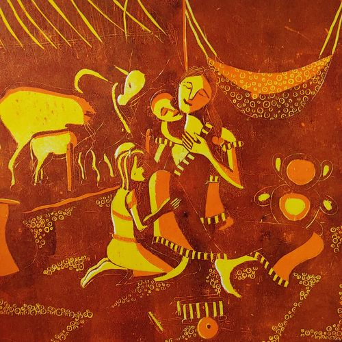 mother and  child , 12 x 12 inch, sarika  kshirsagar,12x12inch,paper,paintings,figurative paintings,paintings for living room,paintings for bedroom,paintings for office,paintings for hotel,paintings for hospital,ink color,paper,GAL02640037990