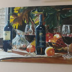 party, 24 x 36 inch, sarang deshmukh,24x36inch,canvas,still life paintings,oil color,GAL02594337993