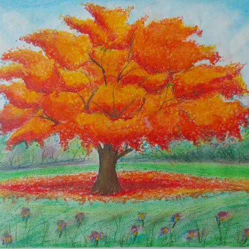 tree in a jungle, 16 x 12 inch, divya vunna,16x12inch,canvas,nature paintings | scenery paintings,paintings for dining room,paintings for living room,paintings for bedroom,paintings for office,paintings for kids room,paintings for hotel,paintings for school,paintings for hospital,paintings for dining room,paintings for living room,paintings for bedroom,paintings for office,paintings for kids room,paintings for hotel,paintings for school,paintings for hospital,pastel color,GAL02645238015