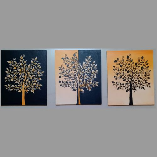 day and night tree, 10 x 12 inch, apoorva shirsat,10x12inch,canvas board,paintings,flower paintings,paintings for dining room,paintings for living room,paintings for bedroom,paintings for office,paintings for hotel,acrylic color,GAL02646538033