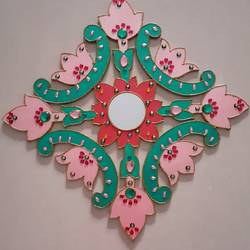 floral wall hanging, 16 x 16 inch, apoorva shirsat,16x16inch,wood board,handicrafts,wall hangings,acrylic color,wood,GAL02646538042