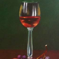 still life, 12 x 16 inch, komal  bharti ,12x16inch,canvas,paintings,still life paintings,oil color,GAL02470038045