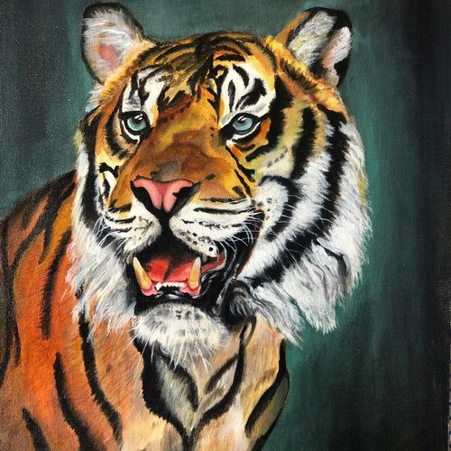 dear don't fear, 16 x 20 inch, renu patel,16x20inch,canvas,paintings,animal paintings,realistic paintings,paintings for living room,paintings for bedroom,paintings for office,paintings for hotel,paintings for school,acrylic color,GAL02647338050