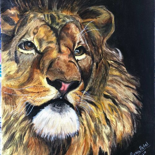 let me think, 16 x 20 inch, renu patel,16x20inch,canvas,portrait paintings,realism paintings,animal paintings,realistic paintings,paintings for living room,paintings for bedroom,paintings for office,paintings for hotel,paintings for school,paintings for living room,paintings for bedroom,paintings for office,paintings for hotel,paintings for school,acrylic color,GAL02647338052