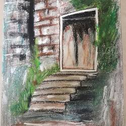 terrific entrance, 9 x 12 inch, pradeep kumar,9x12inch,canvas,paintings,modern art paintings,paintings for living room,paintings for office,paintings for hotel,pastel color,pencil color,GAL02647238066